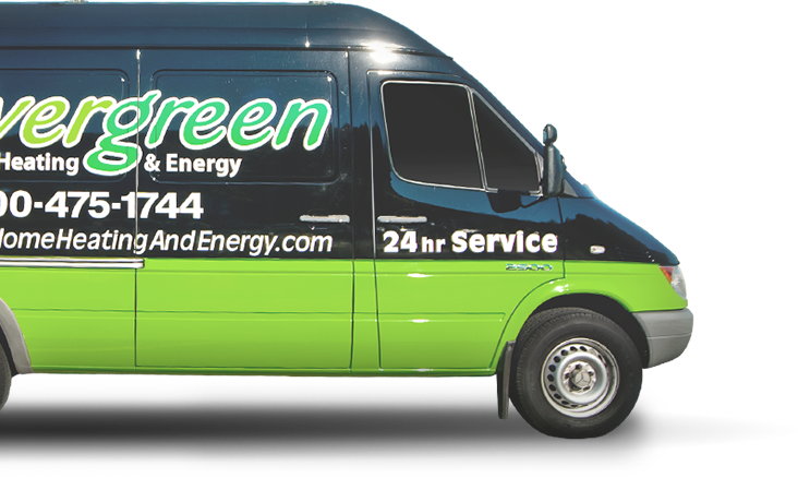 Evergreen Home Heating and Cooling Service Van